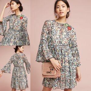 Anthropologie Libra Embroidered Tunic/ Mini Dress